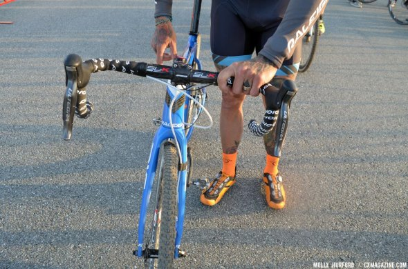 Berden's double rear shifters. © Cyclocross Magazine