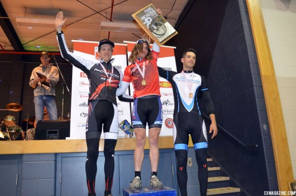 Anthony Clark topping the podium at Paris to Ancaster. © Cyclocross Magazine