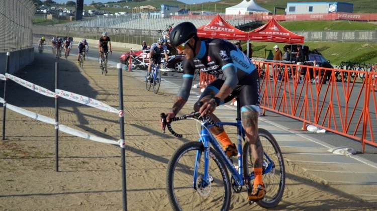 Ben Berden led early and held it at Sea Otter 2014. © Cyclocross Magazine