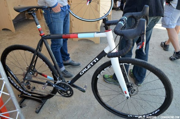 Easton showed off a handmade in the US Caletti with their wheels at Sea Otter 2014. © Cyclocross Magazine