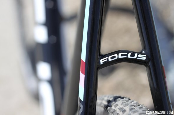 Focus' 2015 Mares cyclocross bike sheds grams, including at the seatstay bridge. © Cyclocross Magazine