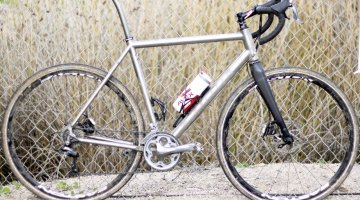 Kona's titanium Rove cyclocross & gravel bike seen at Sea Otter 2014. Frame only is $2000. © Cyclocross Magazine