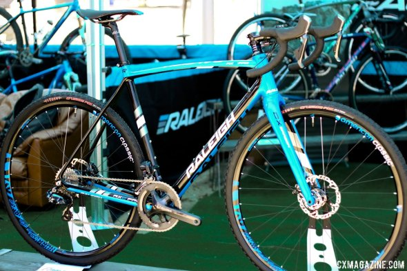 Raleigh's new 2015 RXC Disc and RXC Pro Disc carbon cyclocross  frames get thru axles, lower bottom brackets and 11-speeds. © Cyclocross Magazine