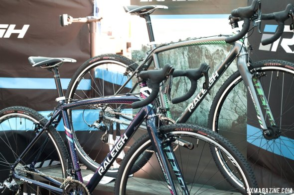 Raleigh 2015 cyclocross bikes includes the RX 1.0 and RX 2.0 Women's models, with cantilever brakes. © Cyclocross Magazine