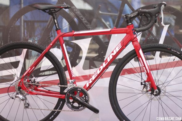 The updated aluminum at Redline looks similar to the first ever 'cross frame. Sea Otter 2014. © Cyclocross Magazine