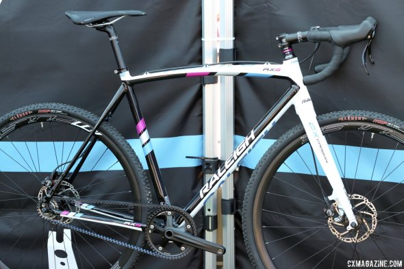 Gates Carbon Drive, TRP Hylex brakes, Clement MXP tires. Raleigh's RXS is ready to race? © Cyclocross Magazine