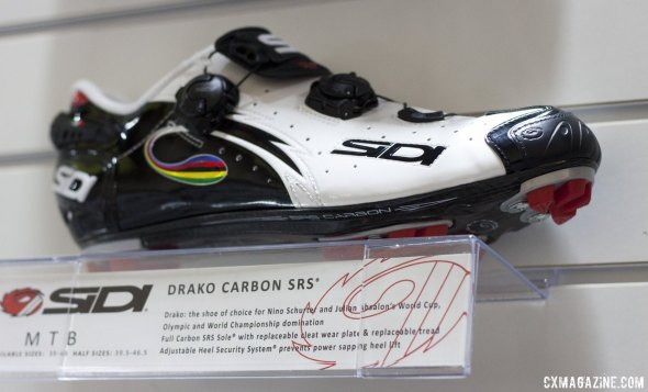 Sidi's 2014 Drako mountain bikes shoes, as worn by Absalon and Schurter. © Cyclocross Magazine