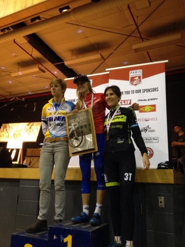Vardaros on the right on the podium. © Pete Farr