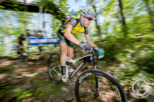 Jeremiah Bishop rolls down a rocky descent through the last stage of the Trans-Sylvania Epic