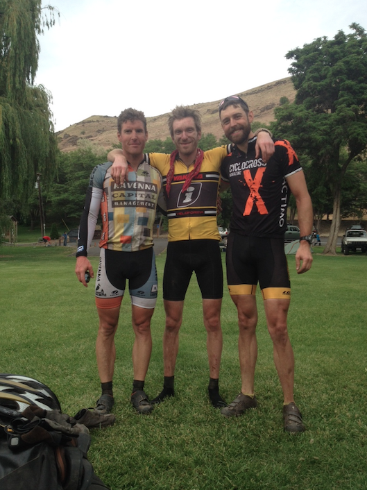 The teammates in the Oregon Outback, amazingly still smiling.