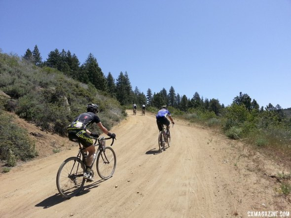 100-mile racers climbed 7000 feet throughout the 2014 Lost and Found gravel race. © Cyclocross Magazine