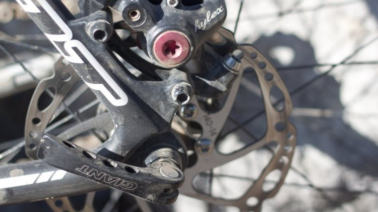 Knowing when and how to replace disc brake pads during a race makes any good pit mechanic worth his salt. © Cyclocross Magazine