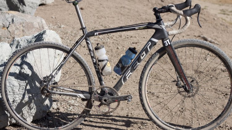 Ron Shevock's sixth place-winning Felt F1x singlespeed cyclocross / gravel bike, with a 50x19 gear. © Cyclocross Magazine