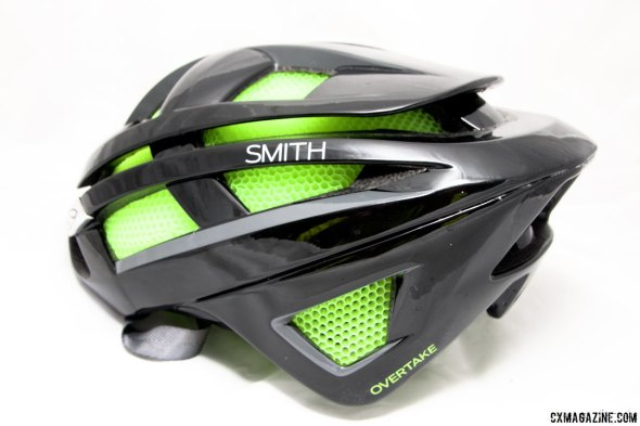 Besides the bright green Koroyd, the rear lines of the Smith Overtake look relatively traditional. © Cyclocross Magazine
