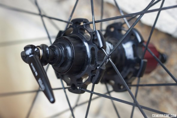 Gone missing from the new hubs: some extra aluminum and bearing preload adjustment. © Cyclocross Magazine