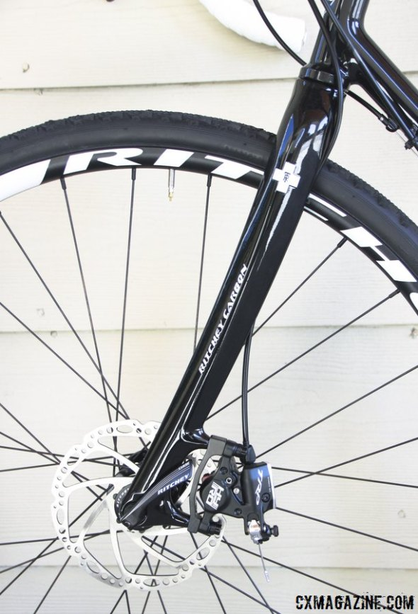 "Want to add disc brakes to your older non-tapered head tube frame? Ritchey has a new WCS disc fork for you, with a  1-1/8"" straight steerer. © Cyclocross Magazine"