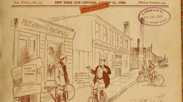 The Wheel and Cycling Trade Review from 1887.