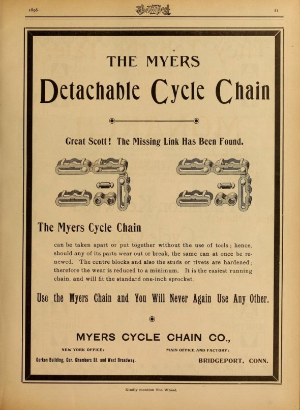 No tools! Master link chains from 1896.