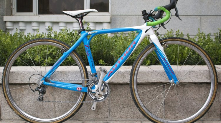 Japanese Cyclocross National Champion Sakiko Miyauchi's Author Cyclocross Bike. © Cyclocross Magazine