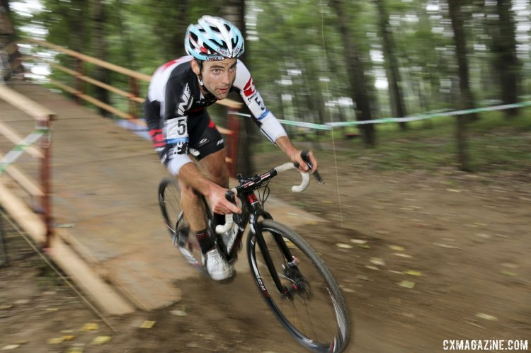 Justin Lindine missed repeating his third from last year, but was satisified with a sixth place in the 2014 C1 event. © Cyclocross Magazine