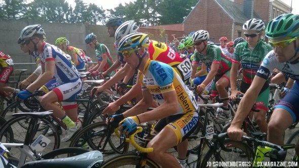 Corne van Kessel at the start of the Tour of Vlaams Brabant. He would eventually finish fifth overall.© Jo Croonenberghs