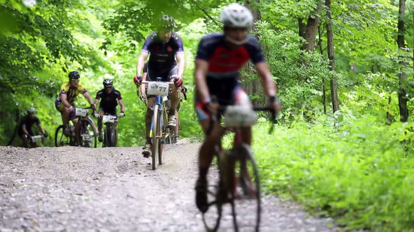 Hundreds of riders suffered through roads of all surfaces. during the Hilly Billy Roubaix.