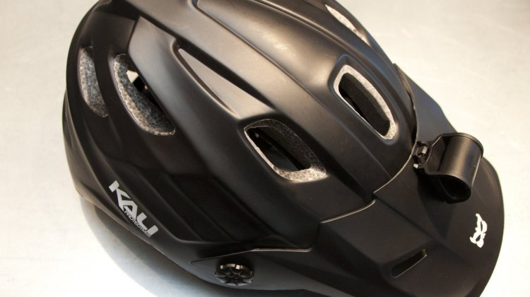 The Maya bike helmet comes with an array of mounts for lights and GoPro cameras. © Cyclocross Magazine