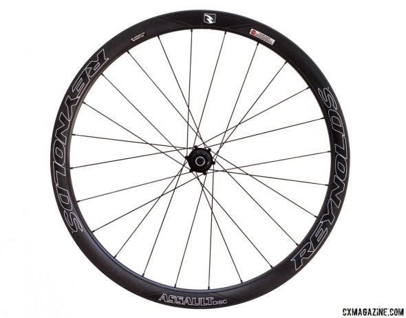 2015 Reynolds Assault Disc carbon tubular wheels. © Cyclocross Magazine