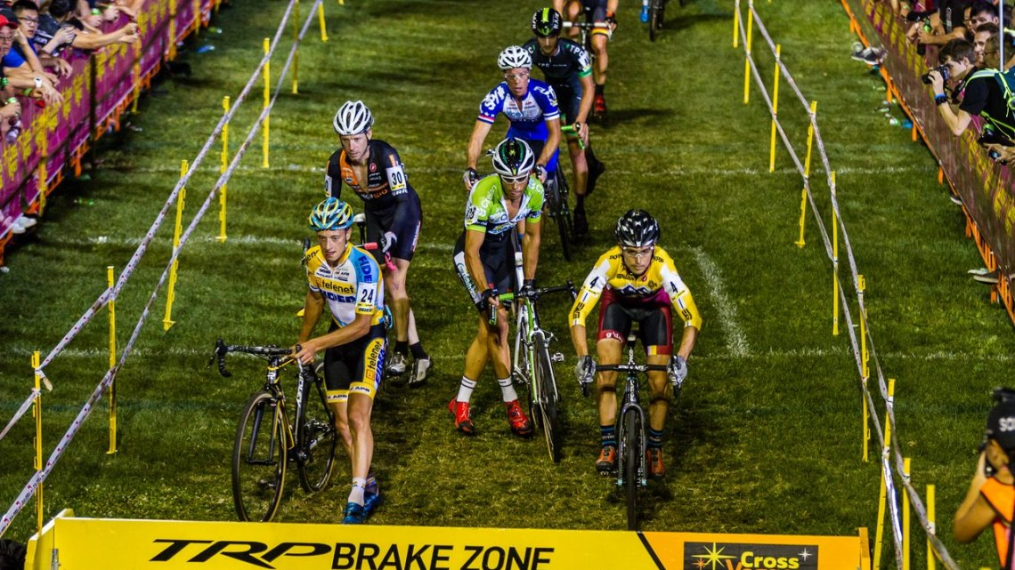 Allen Krughoff hopped barriers and leaped expectations for Noosa at the 2014 CrossVegas © Thomas van Bracht / Peloton Photos
