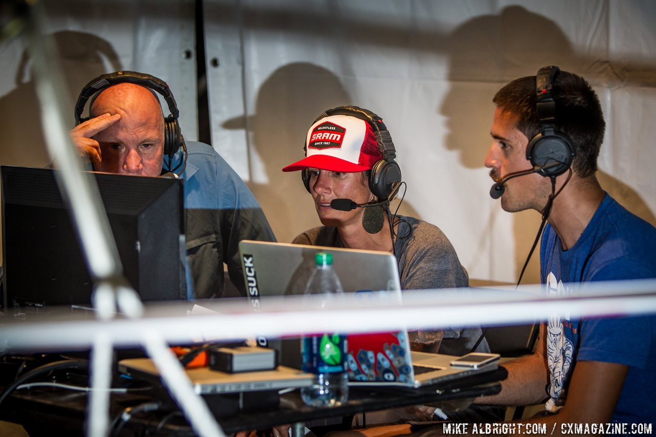 nicole-duke-took-a-turn-behind-the-microphone-with-the-live-webcast-crew-cross-vegas-2014-mikealbrightcom-cyclocross-magazine