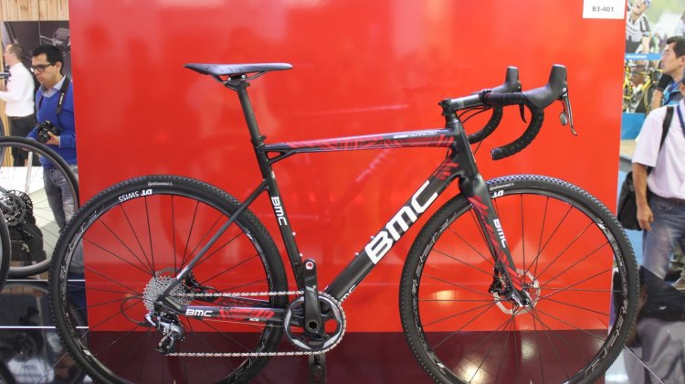 BMC was at the show with the new CrossMachine CX01. Many of its frame elements are based on their road models and it's set up with SRAM Force 1x11 with hydraulic disc brakes. © Christopher Langer