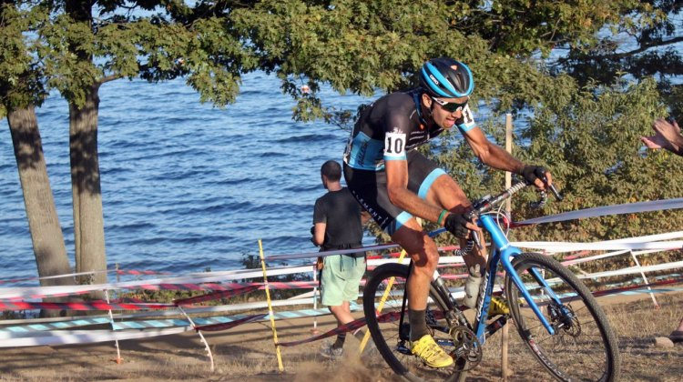 Jamey Driscoll admits that Gloucester is one of his favorite courses, and both days he was able to work his way up the pack for great results. © Andrew Reimann