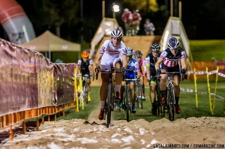 Helen Wyman led early but then suffered a mechanical and pulled out. © LasalaImages.com
