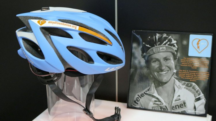 Lazer is creating an Amy Dombroski Foundation model of its O2 helmet to help raise funds for the organization. © Cyclocross Magazine
