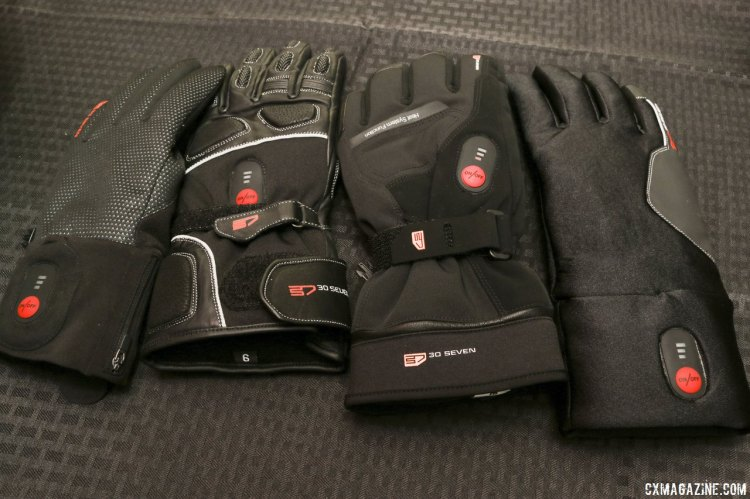 30 Seven is a Belgian company offering electronically heated gloves, socks, baselayers and jackets. © Cyclocross Magazine