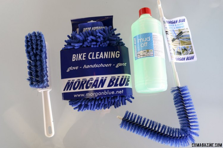 "Got a dirty, muddy bike? Morgan Blue will help you get it clean, with brushes and ""Mud Off."" © Cyclocross Magazine"