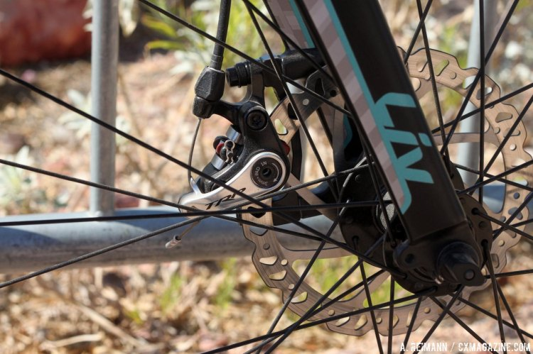 The Brava SLR 2 also comes equipped with TRP Spyre disc brakes. © Cyclocross Magazine