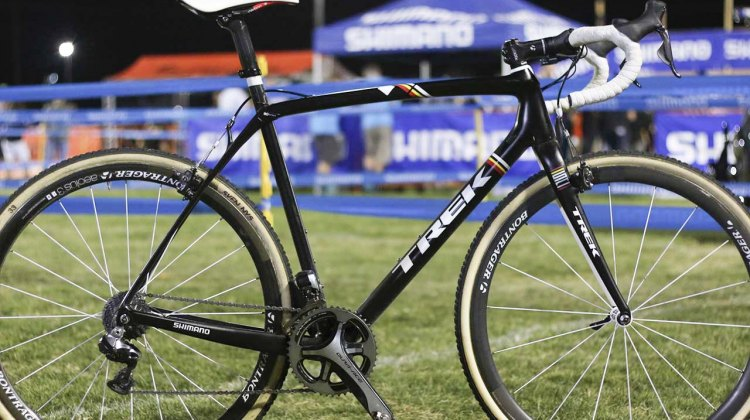 Sven Nys' Trek Boone race winning bike. © Cyclocross Magazine