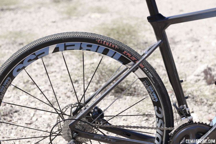 The American Classic ARGENT tubeless wheel set comes stock on the Renegade Elite, just like the 2015 Supernova. © Cyclocross Magazine
