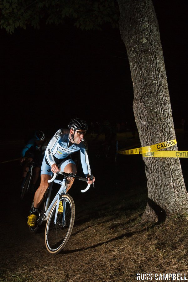 Myerson controlled the lead group until a late crash in the last turns. © Russ Campbell