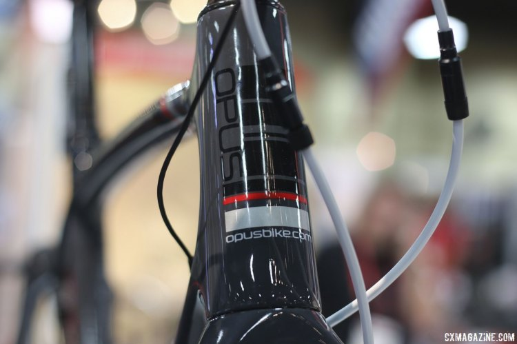 Opus's Stelle 1.0 comes in five sizes, from 51-59, and its frame is made of T-700 carbon fiber. © Cyclocross Magazine
