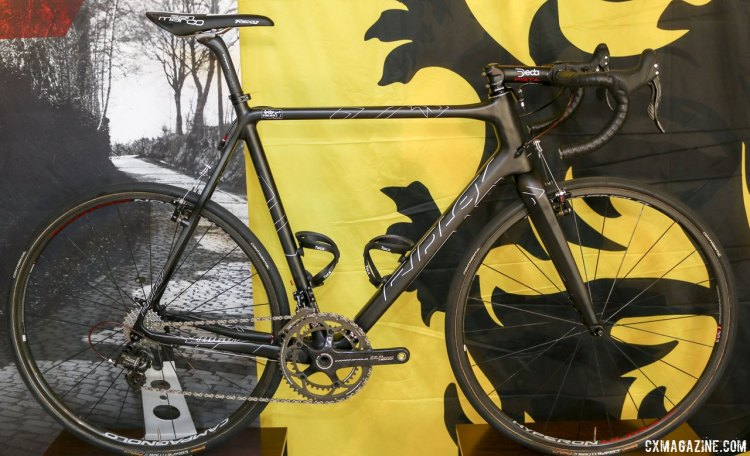 Ridley's Campagnolo Super Record-equipped X-Night was raced by the Lotto Belisol road team at Paris Roubaix exactly as shown. © Cyclocross Magazine