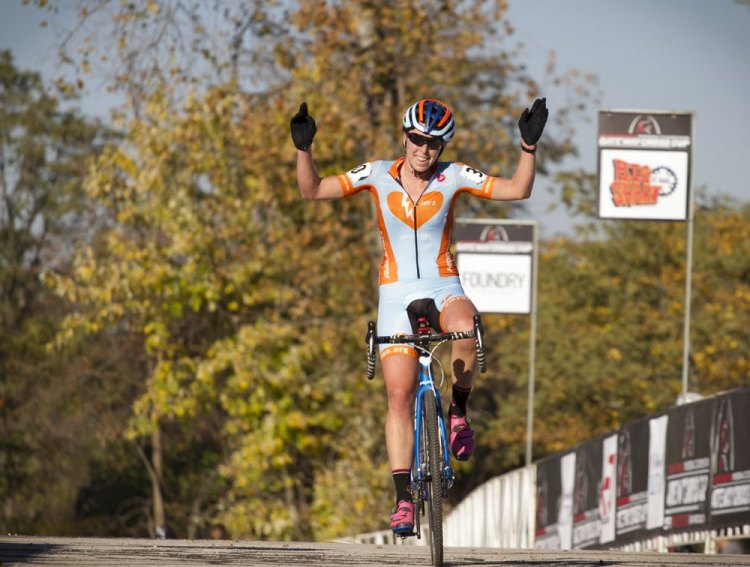 Erica Zaveta rode well all race to claim her first-ever UCI win. © Matt James