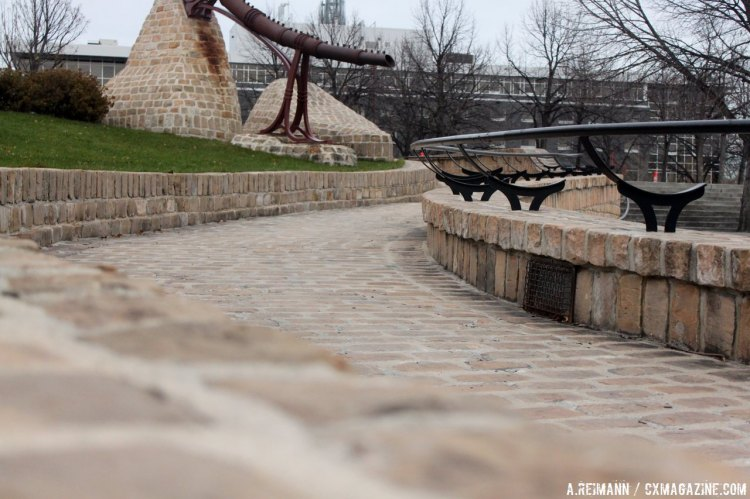 This sweeping ramp is only one of the many man made features that make up the course in Winnipeg. © Andrew Reimann