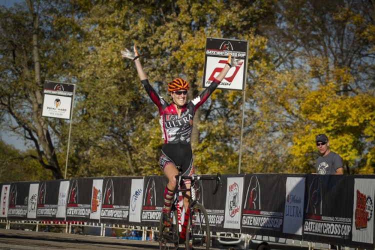 Gilbert crossed the line alone for a big win in her season. © Matt James