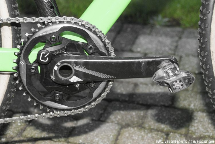 Anderson used a 42t chainring last weekend to propel her to 5th place. © Emiel Van den Broeck.