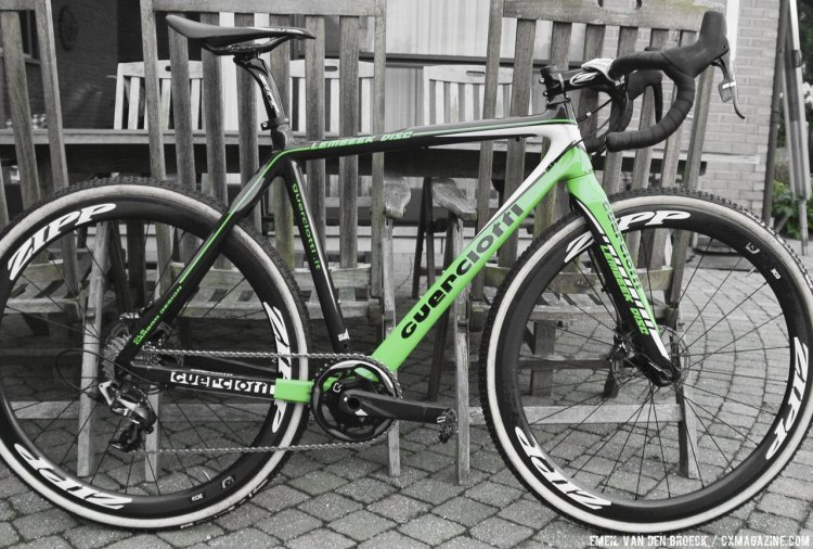 Guerciotti was an early European adopter of disc brakes when they released their Lembeek Disc before the 2013 season. © Emiel Van den Broeck.