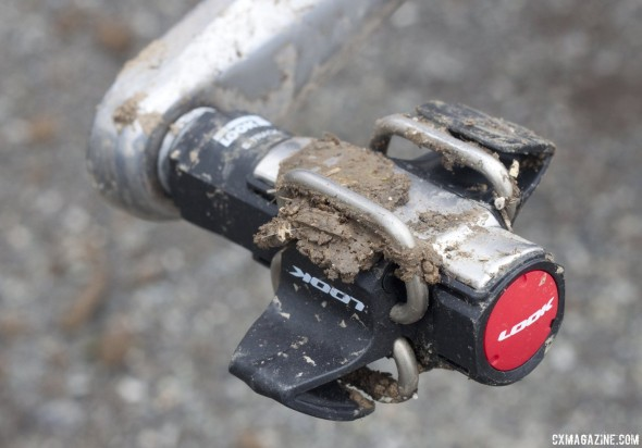 Thick mud? No problem with entry or release. Look S-Track mtb / cyclocross pedal reviewed. © Cyclocross Magazine