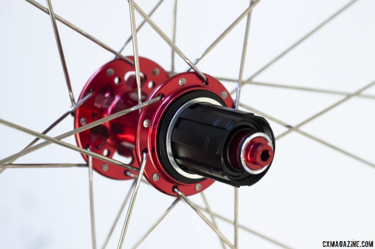 Neugent Cycling wheels, double laced with Sapim CX Ray stainless steel aero spokes.© Cyclocross Magazine