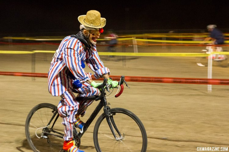 Former Masters National Champion John Elgart is a master of the rodeo and rounded up the bulls. © Cyclocross Magazine